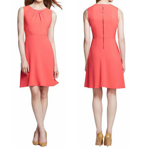 Elie Tahari peach pink A-line flirty dress
